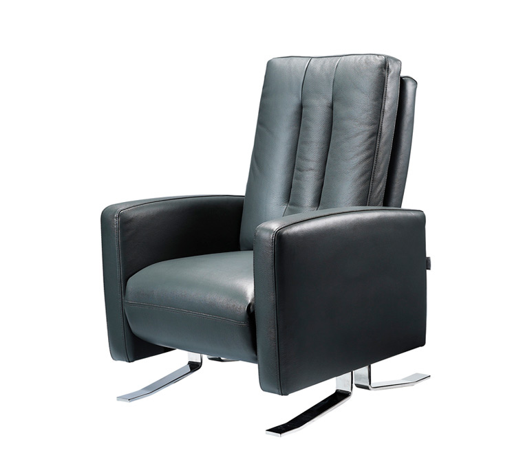 Leather Recliner Modern Slim