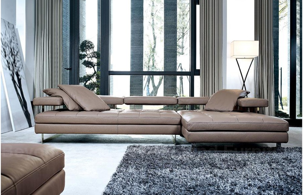 Sofa Arsizio Chaise Lounge Leather Sofa