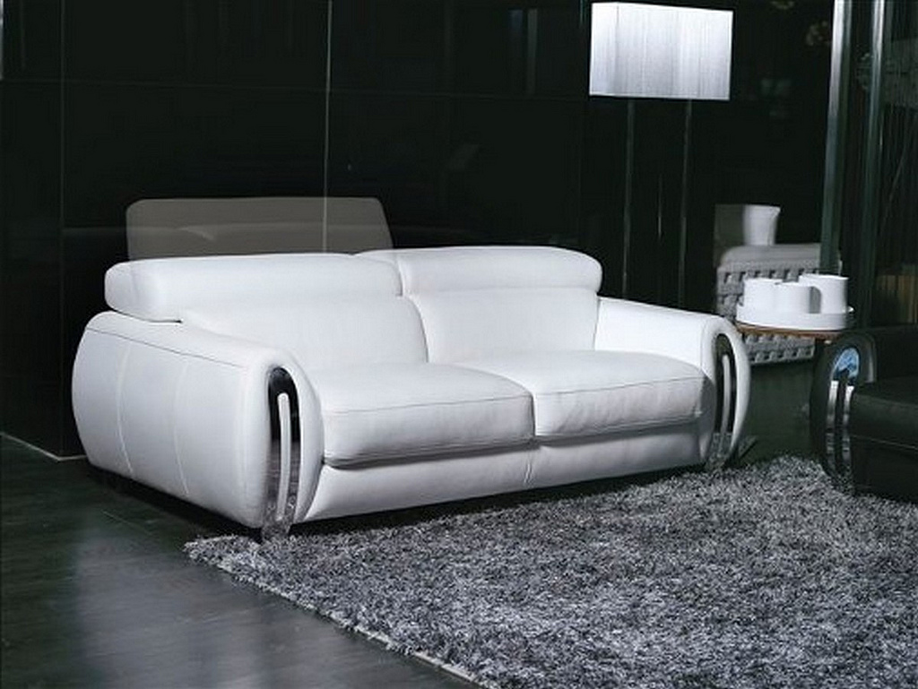 Sofa Fara 3 Seater Leather Sofa With Headrest