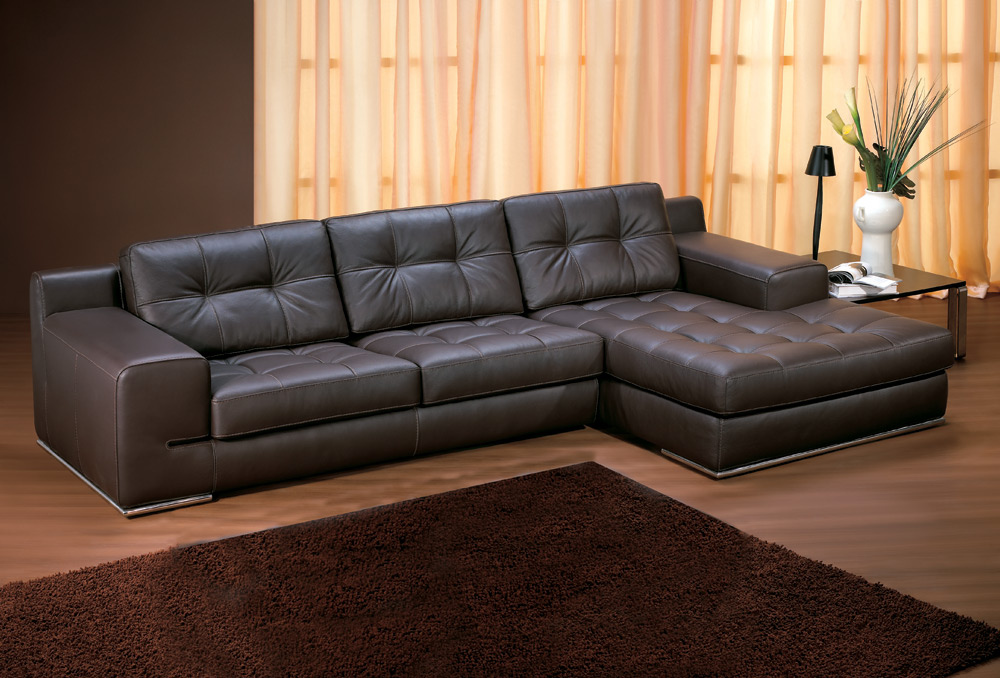 Sofa Flori Chaise Lounge Leather Sofa 1