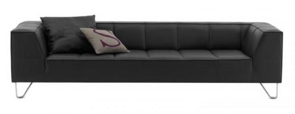Sofas Milos Black Leather Lounge Sofa Sofa