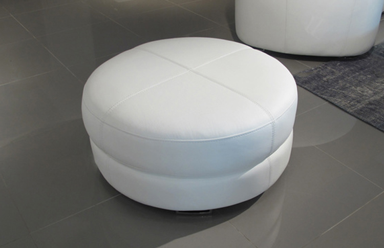 Magnificent Ottomans Base Pure White Round Leather Ottoman Sofa Sofa Gmtry Best Dining Table And Chair Ideas Images Gmtryco