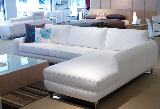 Sofas Torino White Leather 2 3 Seater Lounge Suite