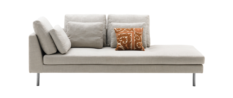 Sofas u2013 Istra Light Grey Flint Fabric Lounging Sofa  sc 1 st  Sofa Sofa : chaise lounge sydney - Sectionals, Sofas & Couches