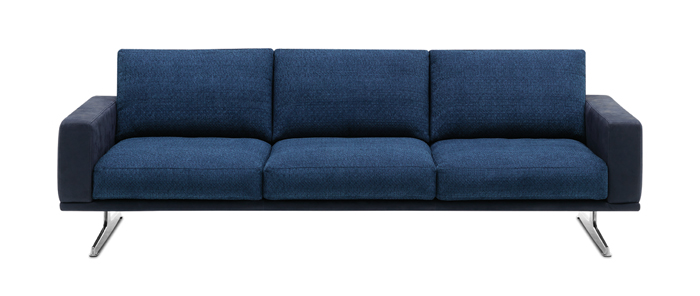 carlton-blue-fabric-leather-combination-three-seater-sofa
