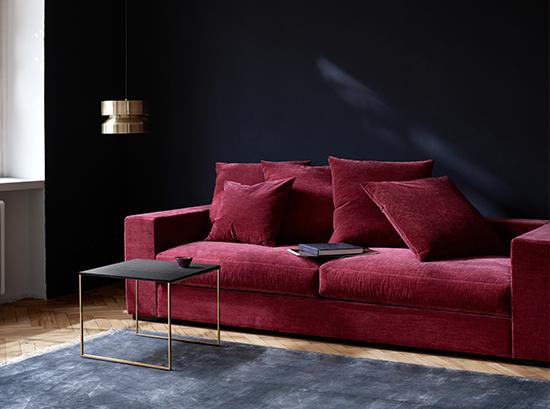 Cenova modern red sofa Sydney