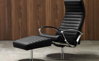 Wing modern recliner